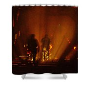 Crossing Over... The Haunted Bridge Shower Curtain