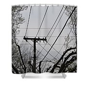 Crossing Power Lines Shower Curtain