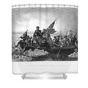 Crossing The Delaware Shower Curtain by Granger