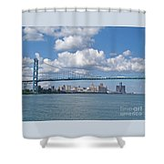 Crossing The Detroit River Shower Curtain