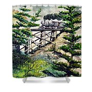 Crossing The Gap Shower Curtain