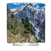 Crossing The Himalayas Shower Curtain