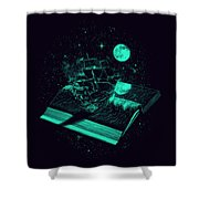 Crossing The Rough Sea Of Knowledge Shower Curtain