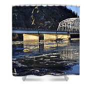Crossing The Tanana River Shower Curtain
