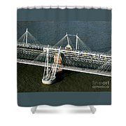 Crossing The Thames Shower Curtain