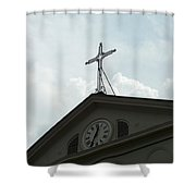 Crossing Time Shower Curtain