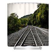 Crossing Tracks Shower Curtain