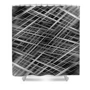 Mono Lines 3 Shower Curtain