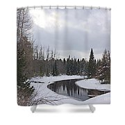 Crossing.jpg Shower Curtain