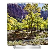 Crossover The Bridge - Zion Shower Curtain
