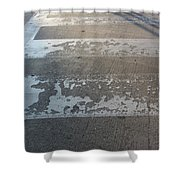 Crosswalk Shadow 1 Shower Curtain