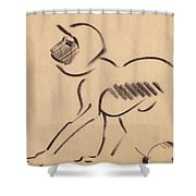 Crouching Monkey Shower Curtain