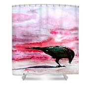 Crow At Dawn Shower Curtain