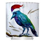 Crow Ho Ho Shower Curtain