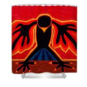 Crow Rising Original Painting Shower Curtain by Sol Luckman