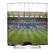 Crowd In A Stadium To Watch A Soccer Shower Curtain