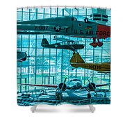 Crowded Skies Shower Curtain