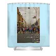 Crowds At Carnival Notting Hill Celebrations Shower Curtain