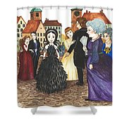 Crowgirl In The Dress Shower Curtain