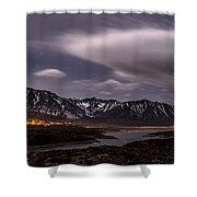 Crowley Lake At Night Shower Curtain