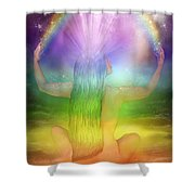 Crown Chakra Goddess Shower Curtain by Carol Cavalaris