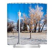 Crown Lantern Shower Curtain