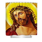 Crowned With Thorns Shower Curtain