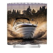 Crownline Boat Shower Curtain