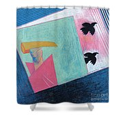 Crows And Geometric Figure Shower Curtain