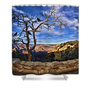 Crows Of The Grand Canyon Shower Curtain