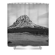 Crowsnest Mountain Black And White Shower Curtain