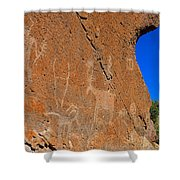 Capital Reef Rock Art Panel A Shower Curtain