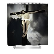 Crucified Christ Shower Curtain