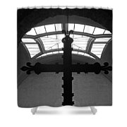 Crucifix And Skylight Shower Curtain