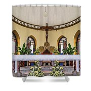 Crucifix And Angels Shower Curtain