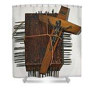 Crucifix Box Shower Curtain