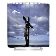 Crucifix In The Light Shower Curtain