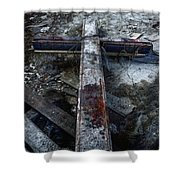 Crucifixion Shower Curtain by Margie Hurwich