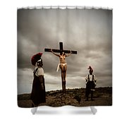 Crucifixion Scene Of Roman Movie Shower Curtain