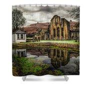 Crucis Abbey Shower Curtain