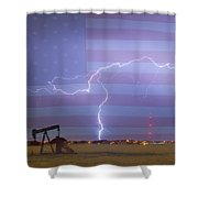 Crude Oil And Natural Gas Striking Across America Shower Curtain