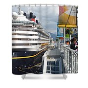 Cruise Dockside In Vancouver Shower Curtain