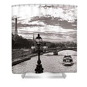 Cruise On The Seine Shower Curtain