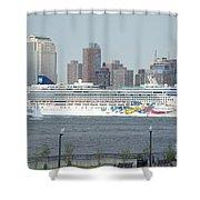 Cruise Ship On The Hudson Shower Curtain