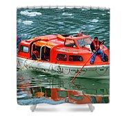 Cruise Ship Tender Boat  Shower Curtain