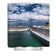 Cruise Ships Port Everglades Florida Shower Curtain