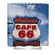 Cruisers Cafe 66 Sign Shower Curtain