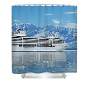 Cruisin' At Hubbard Glacier Shower Curtain