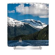 Cruising Alaska Shower Curtain