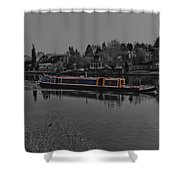 Cruising Along The Thamas River Shower Curtain